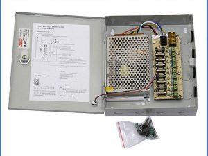 caja fuente de poder 12v 9 canales